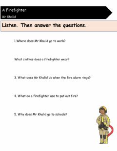 Interactive worksheet Bts Unit 2 -lesson 10-firefighter