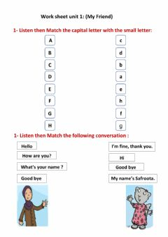 Ficha interactiva Worksheet we can 1 U:1 My Friend