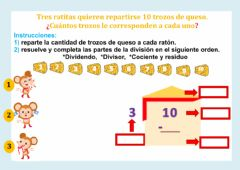 Interactive worksheet División