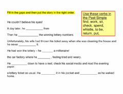 Interactive worksheet Robert Mitchum and the lottery ticket