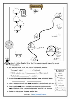 Interactive worksheet Reading a Map
