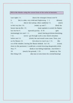 Interactive worksheet Verb tenses