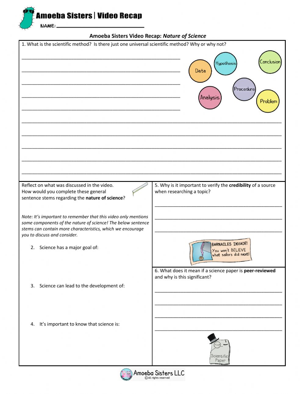 The Nature Of Science Worksheet Answers : Objects Found In ...