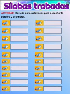 Interactive worksheet SILABAS TRABADAS