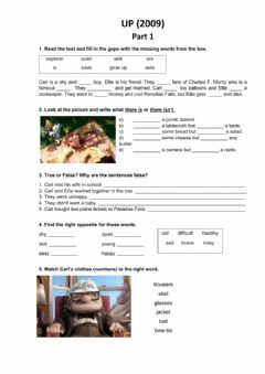 Interactive worksheet Up (2009 film) Part 1