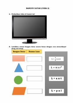 Interactive worksheet Bangun datar