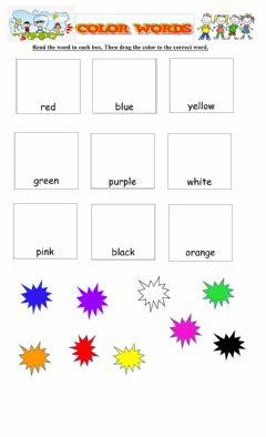Interactive worksheet Colors