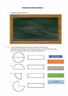 Interactive worksheet Keliling Lingkaran