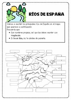 Interactive worksheet Ríos de España