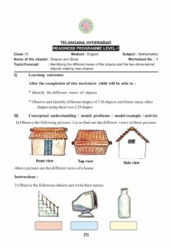 Interactive worksheet Shapes and sizes