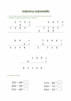 Interactive worksheet Indovina indovinello