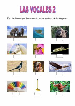 Interactive worksheet Las vocales 2