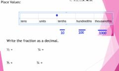 Interactive worksheet 20-21 september Test prior knowledge: fractions to decimals ch2 L1