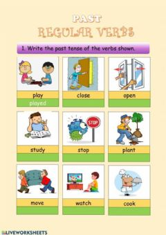 Interactive worksheet The past tense