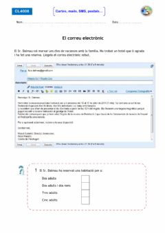 Interactive worksheet E mail