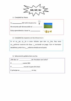 Interactive worksheet Mb, nv, mp