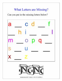 Interactive worksheet The Alphabet