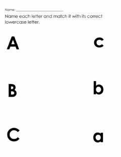Interactive worksheet Match upper and lowercase letters a to c