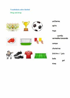 Interactive worksheet Vocabulario Futebol