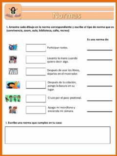 Interactive worksheet Las normas