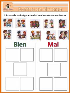 Interactive worksheet Las normas del recreo