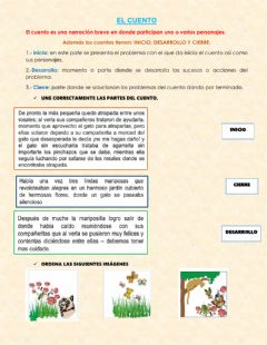Interactive worksheet El cuento