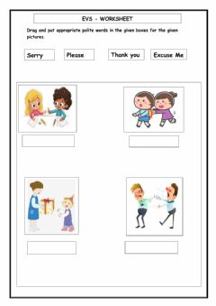 Interactive worksheet EVS -Good Manners