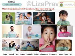 Interactive worksheet Adjectives, personality