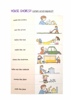 Interactive worksheet House CHores- Listen and repeat