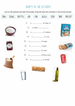 Interactive worksheet What's in the kitchen?