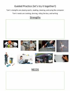 Interactive worksheet Civics - Strengths and Needs Exercise