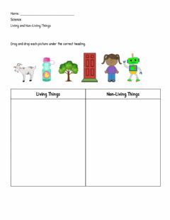 Interactive worksheet Classifying Living - Non-Living Things