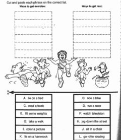 Interactive worksheet How to Exercise-How to Get Rest