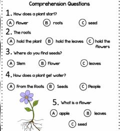 Interactive worksheet Parts of the plant: reading comprehension