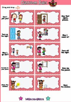 Interactive worksheet Classroom Rules (Drag-drop)