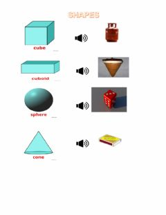 Interactive worksheet 3D Shapes