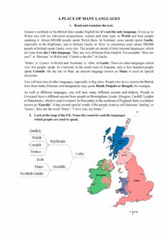 Interactive worksheet The uk languages