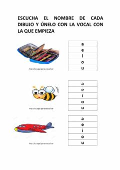 Interactive worksheet Conciencia fonetica