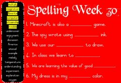 Ficha interactiva Spelling Monday Week 30