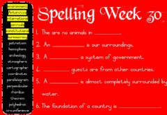 Interactive worksheet Spelling Monday Week 30