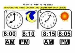 Ficha interactiva ACT - WHAT'S THE TIME?