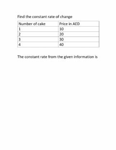 Interactive worksheet Constant change