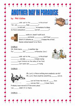 Interactive worksheet Another Day in Paradise Subject-Object Pronouns