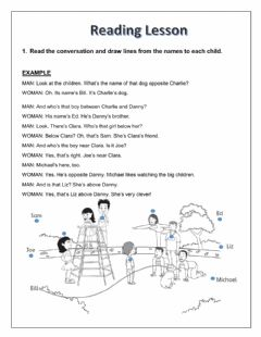 Interactive worksheet Prepositions of place: Reaing