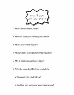 Interactive worksheet Electrical Conductivity