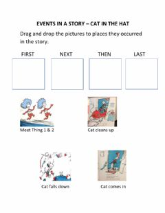 Interactive worksheet Events in a Story - The Cat in the Hat