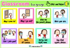 Interactive worksheet Classroom Rules2 (Audio Dictionary)