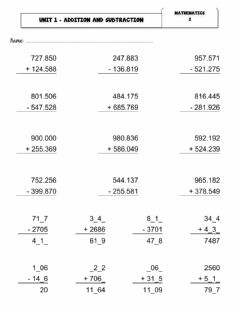 Ficha interactiva Natural Numbers: Addition and Subtraction