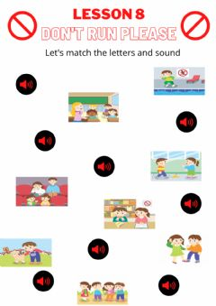 Interactive worksheet Lesson 8: Don't Run, Please
