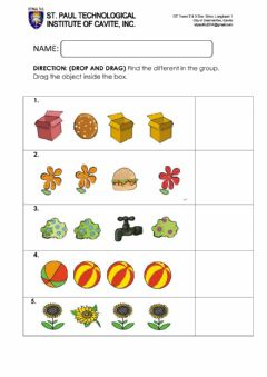 Interactive worksheet Find the different